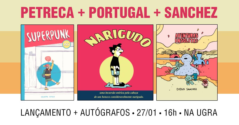 Sábado (27/1) é dia de lançamento das novas HQs de Guilherme Petreca, Felipe Portugal e Diego Sanchez em SP