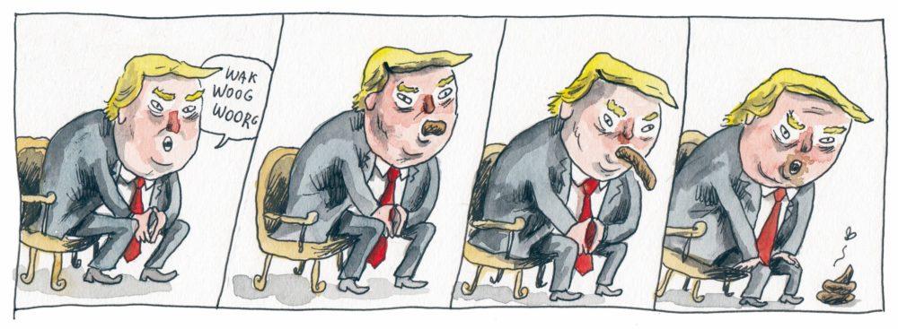 Trump, por Liniers