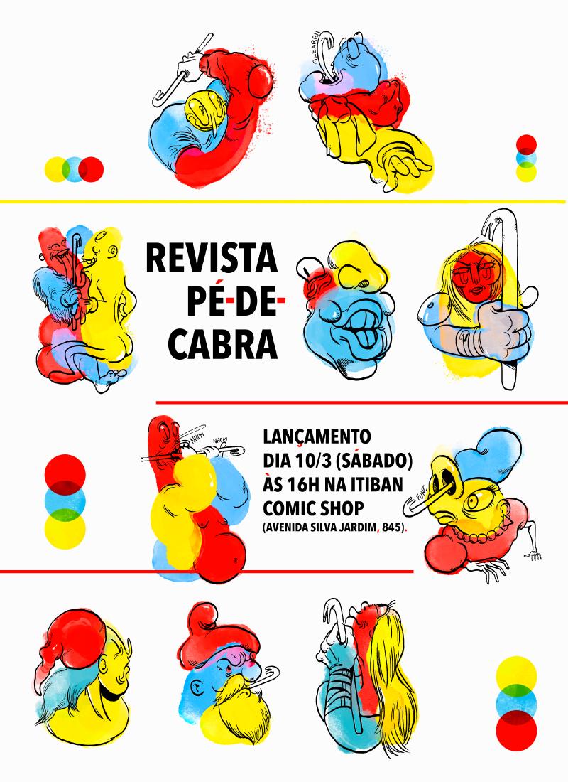 Sábado (10/3) é dia de lançamento da revista Pé-de-Cabra em Curitiba
