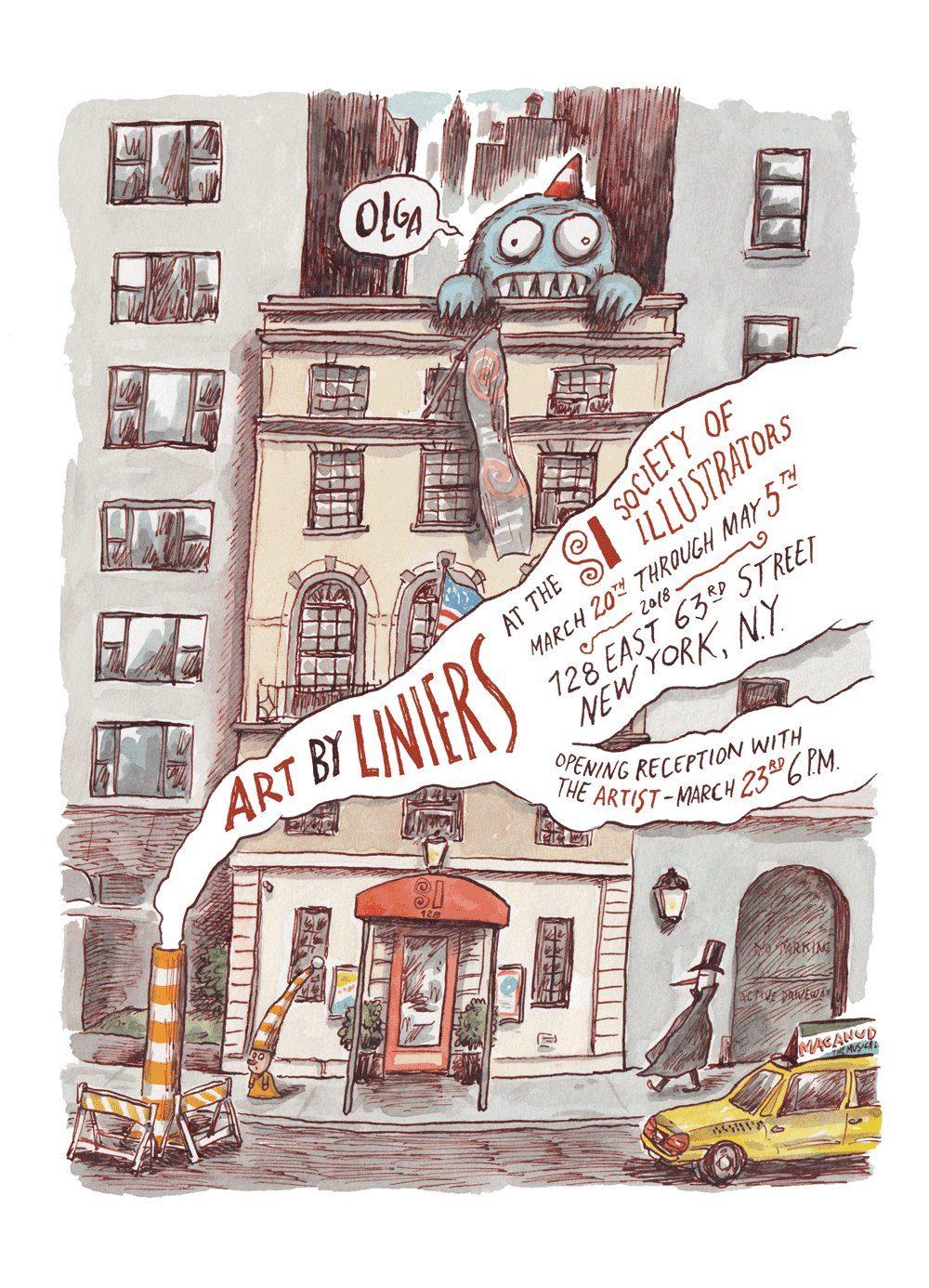 Art by Liniers, a primeira grande exposição de Liniers nos EUA