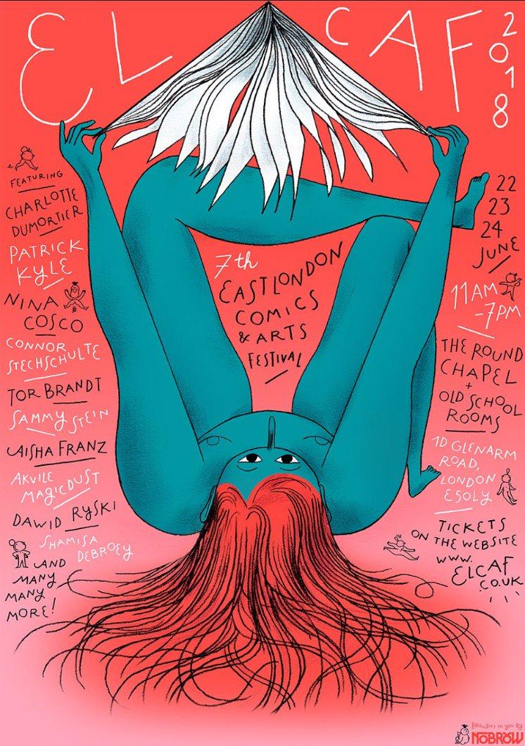 O cartaz de Charlotte Dumortier pro ELCAF 2018