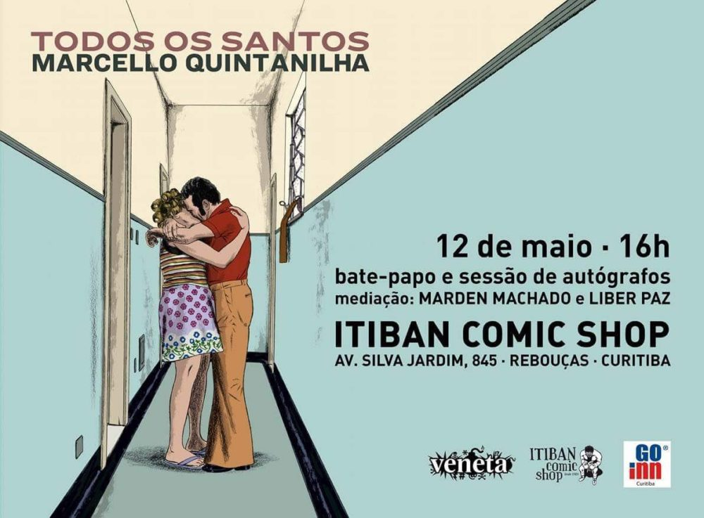 Sábado (12/5) é dia de lançamento de Todos os Santos, o novo álbum de Marcello Quintanilha, em Curitiba