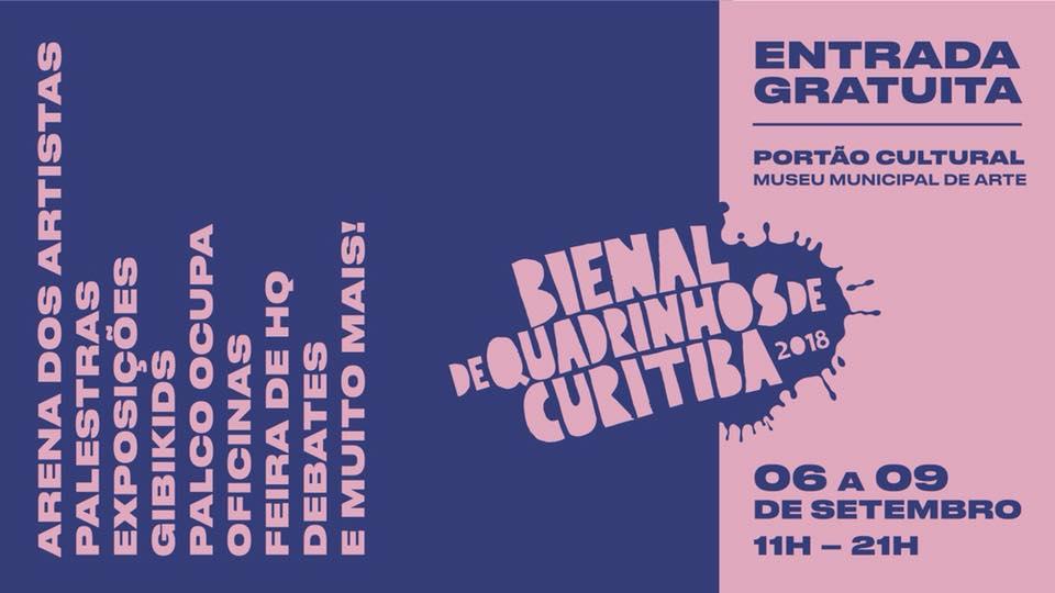 Começa na 5ª (6/9) a Bienal de Quadrinhos de Curitiba 2018