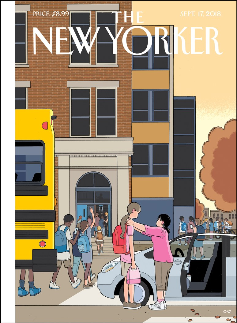 Looking Up, a nova capa de Chris Ware pra revista New Yorker