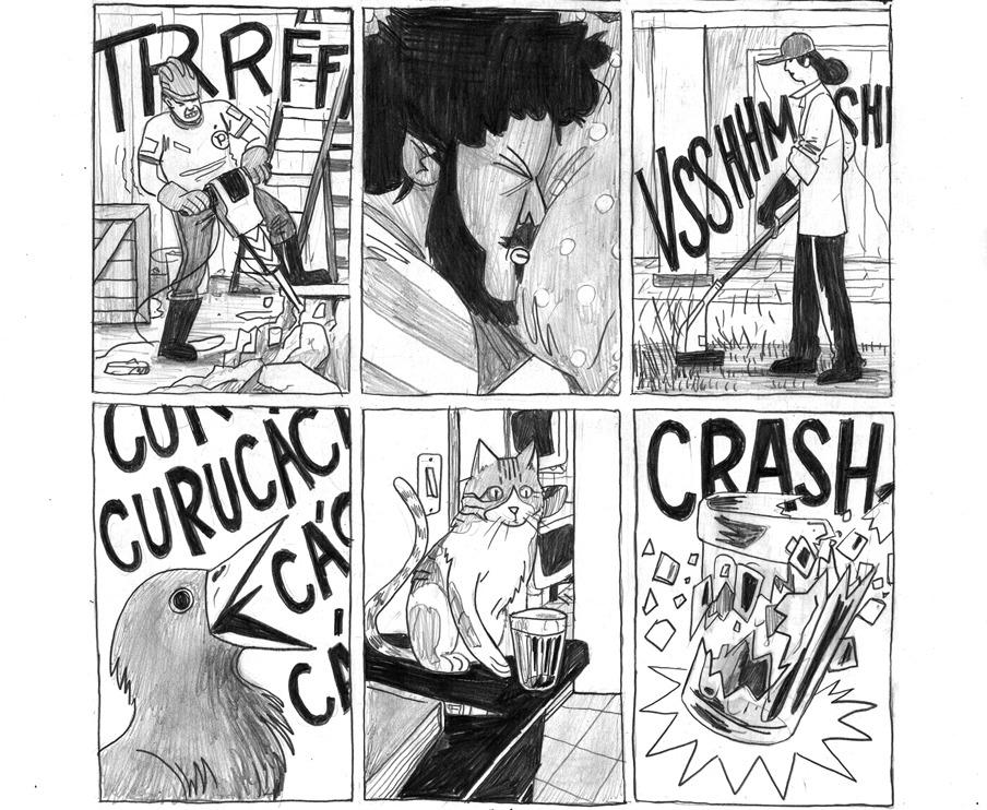 Confira a capa e cinco páginas de ENXAQUECA, a nova história em quadrinhos de Felipe Parucci
