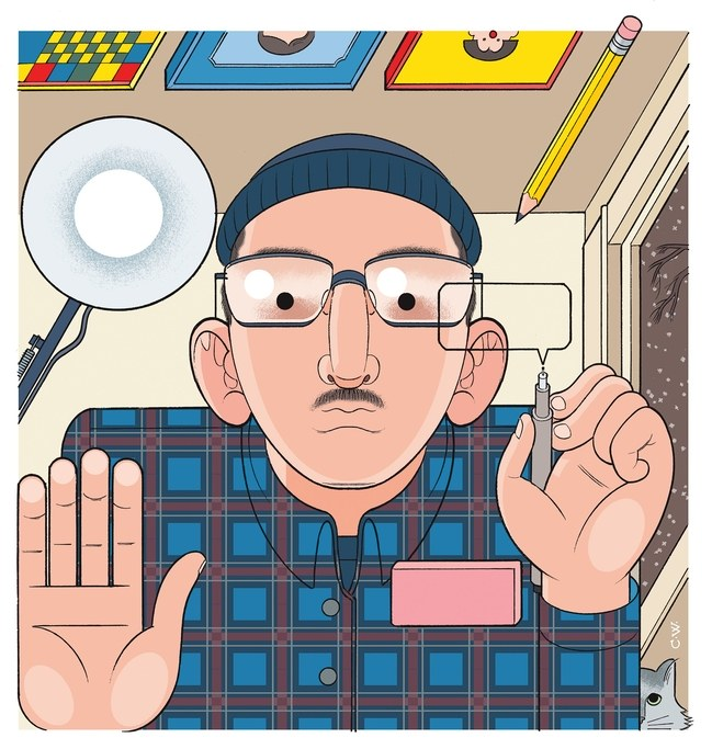 Nick Drnaso, por Chris Ware