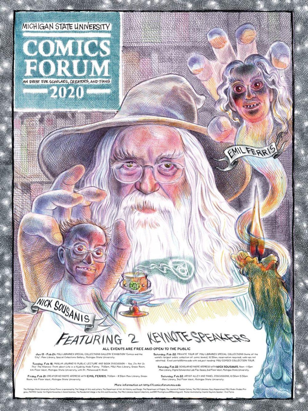 2020 MSU Comics Forum, por Emil Ferris