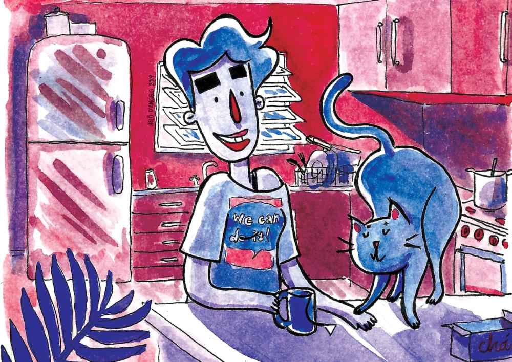 """Papo com Helô D'Angelo, autora de Dora e a gata: """"Tenho curtido 'alfabetizar' uma galera que não está acostumada a ler quadrinhos"""""""