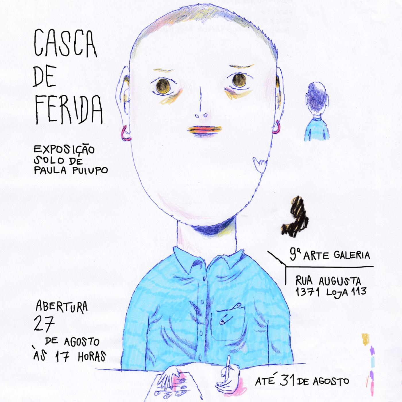 Paula Puiupo expõe originais na mostra Casca de Ferida, em São Paulo