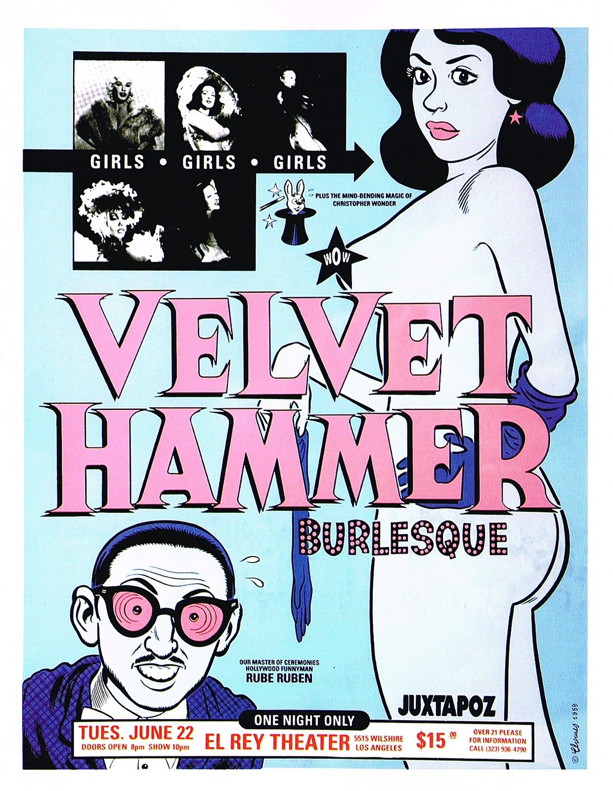 The Velvet Hammer Burlesque no El Rey Theater, por Daniel Clowes