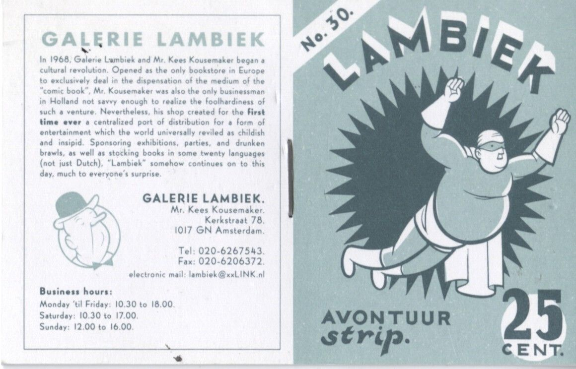 Lambiek Avontur Strip, por Chris Ware