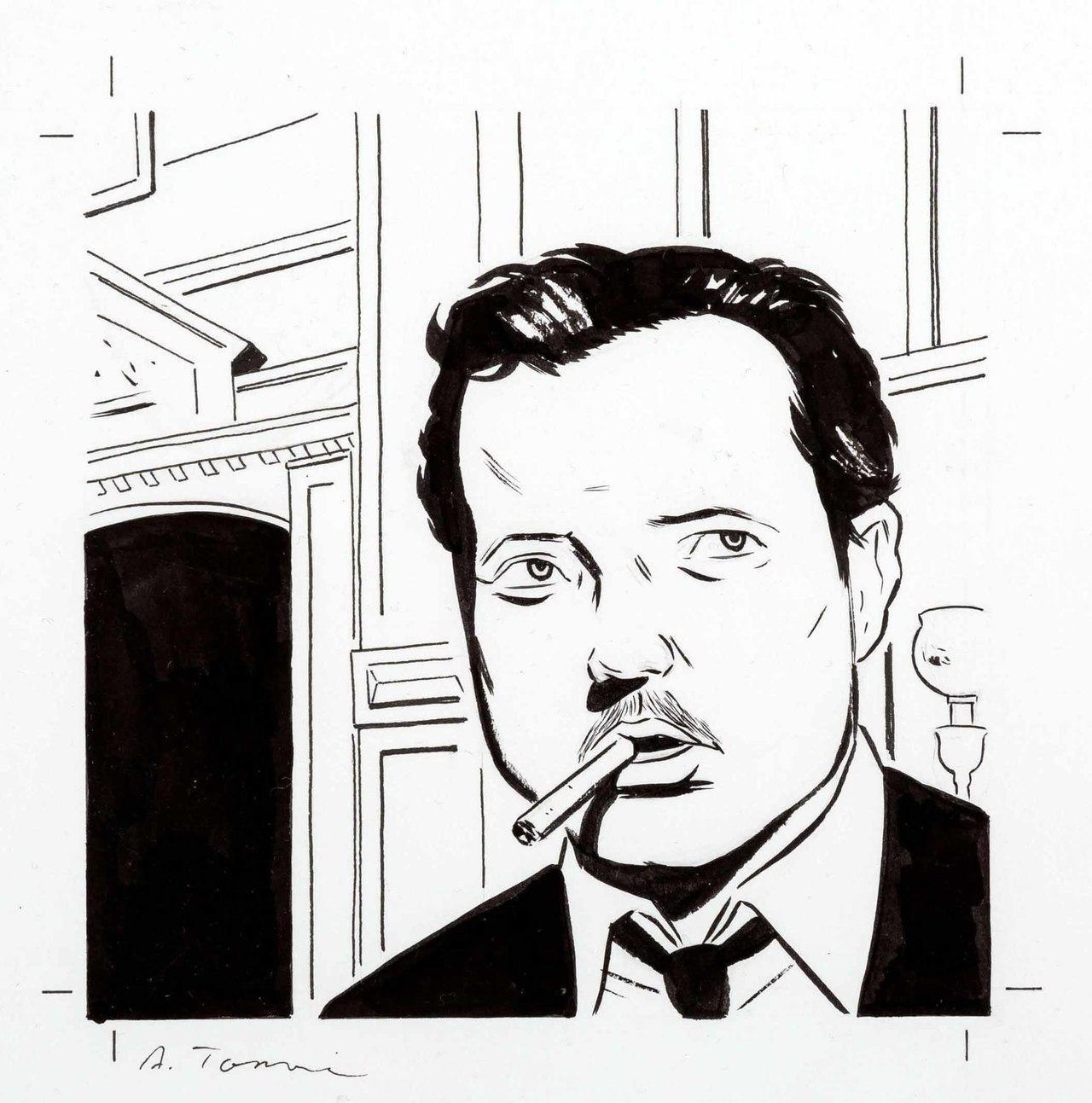 Orson Welles, por Adrian Tomine