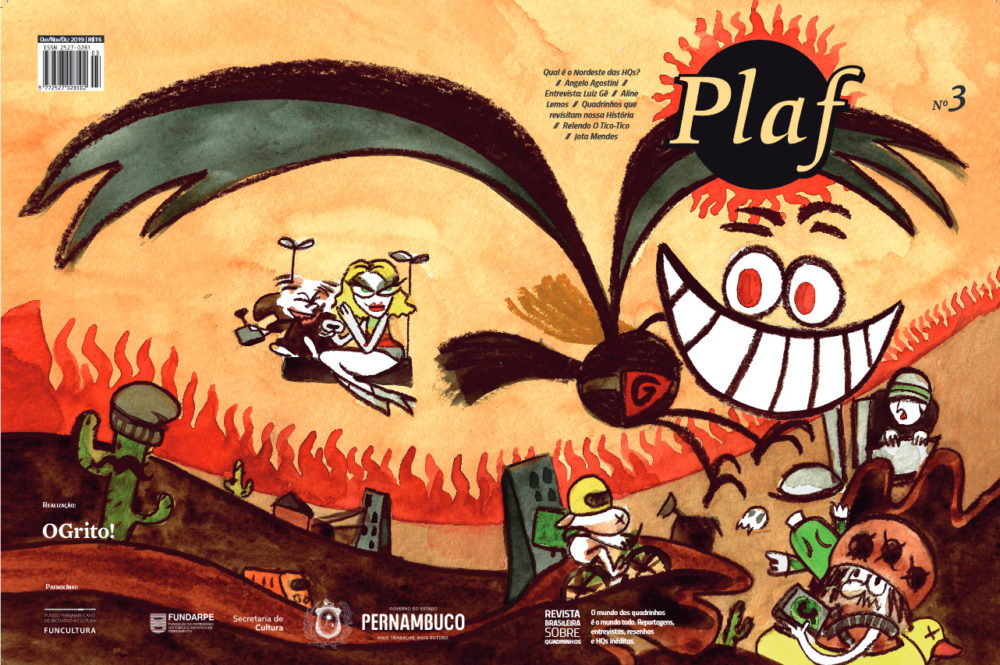 Plaf: confira a capa e uma prévia das HQs e das matérias da 3ª edição da revista