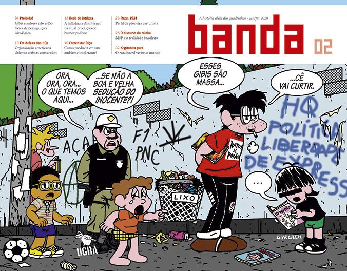 """Papo com Thiago Borges, editor da revista Banda: """"PegamosO Pasquimcomo ponto de partida para chegar a questões políticas contemporâneas"""""""