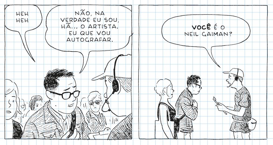Adrian Tomine desdenha de qualquer expectativa de glamour na vida de um autor de histórias em quadrinhos
