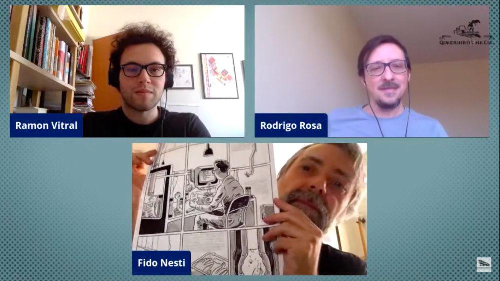 Uma hora de conversa com Fido Nesti e Rodrigo Rosa sobre adaptação de literatura para HQs. Assista!