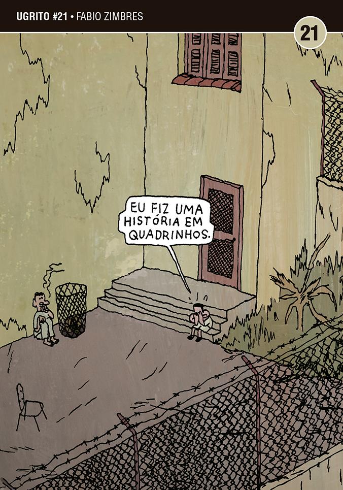 """Douglas Utescher fala sobre Eu Fiz Uma História em Quadrinhos, o Ugrito de Fabio Zimbres: """"Muita gente se sentiu impelida a buscar seu próprio jeito de desenhar e escrever depois de ler o Zimbres"""""""