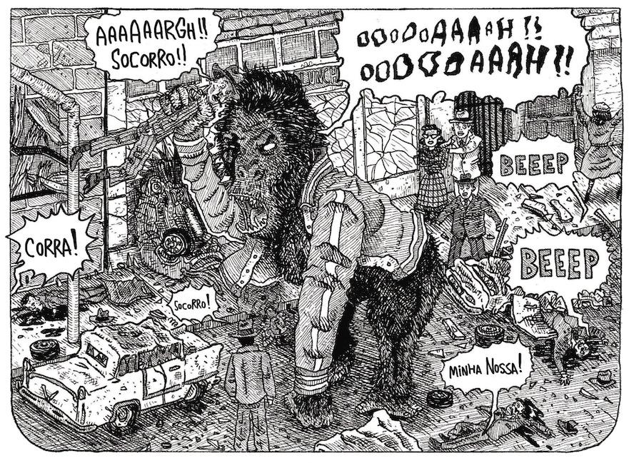 """Papo com Fábio Vermelho, autor de Eu Fui um Garoto Gorila e 400 Morcegos: """"Represento a violência de forma gráfica porque é assim que ela é"""""""