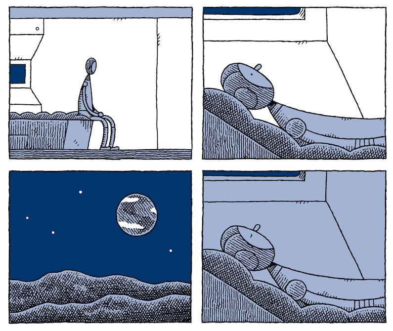 """Papo com Tom Gauld, autor de Guarda Lunar: """"A arte que mais gosto costuma ser triste e engraçada ao mesmo tempo"""""""