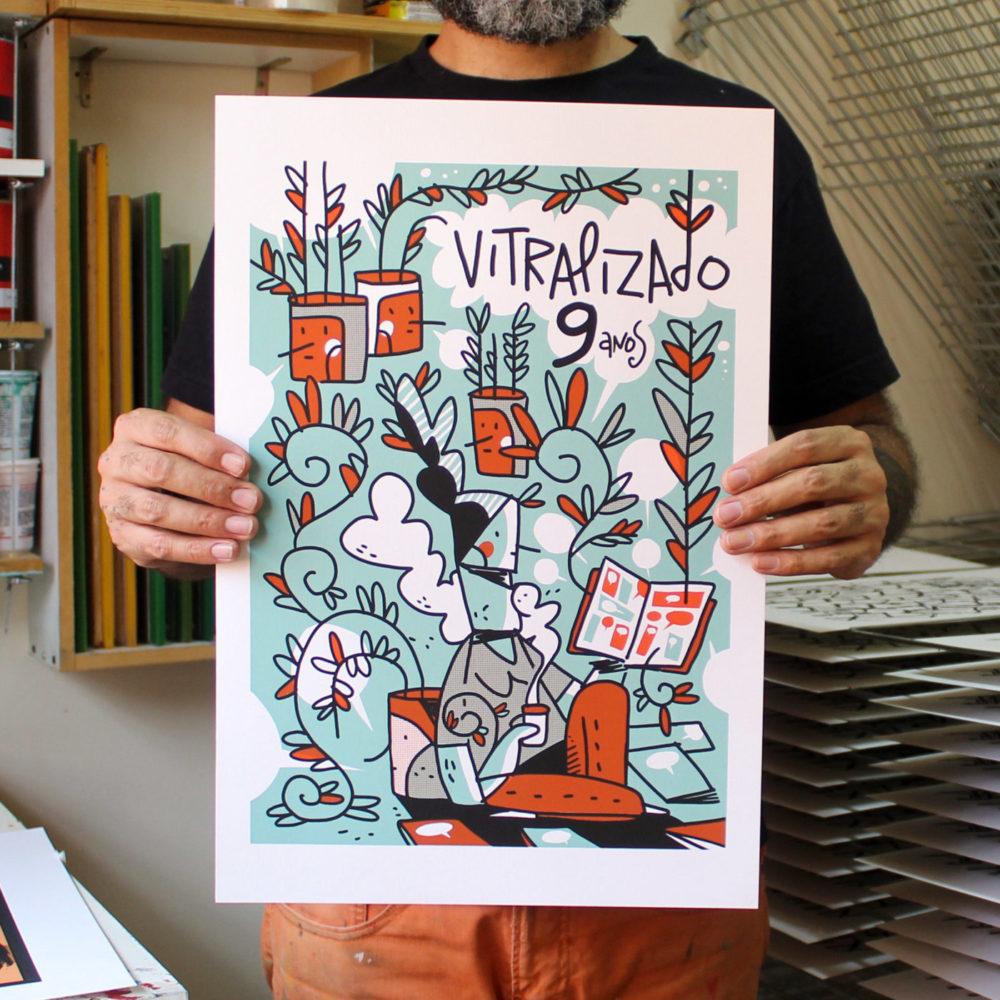 Galvão Bertazzi fala sobre a arte de aniversário de 9 anos do Vitralizado